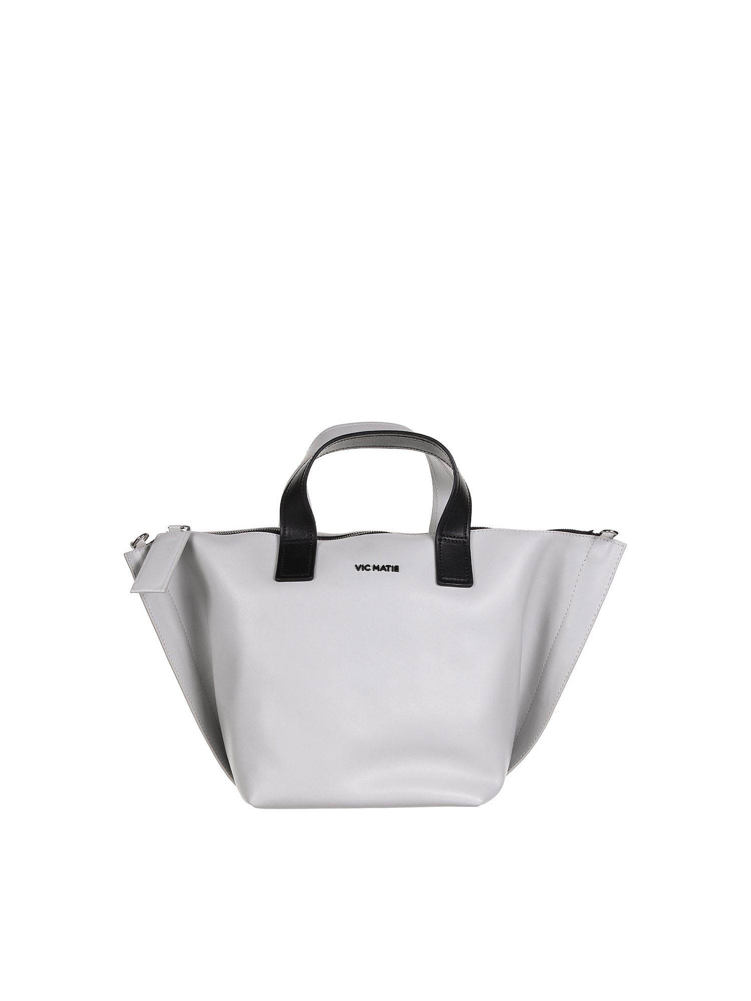 Vic Matie Totes ALIZEE SHOPPING BAG IN WHITE