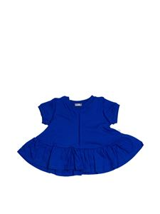 Il Gufo - Hem T-shirt with flounce in blue