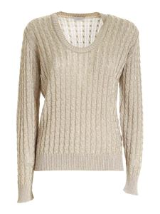 Ballantyne - Braided knitted sweater in beige