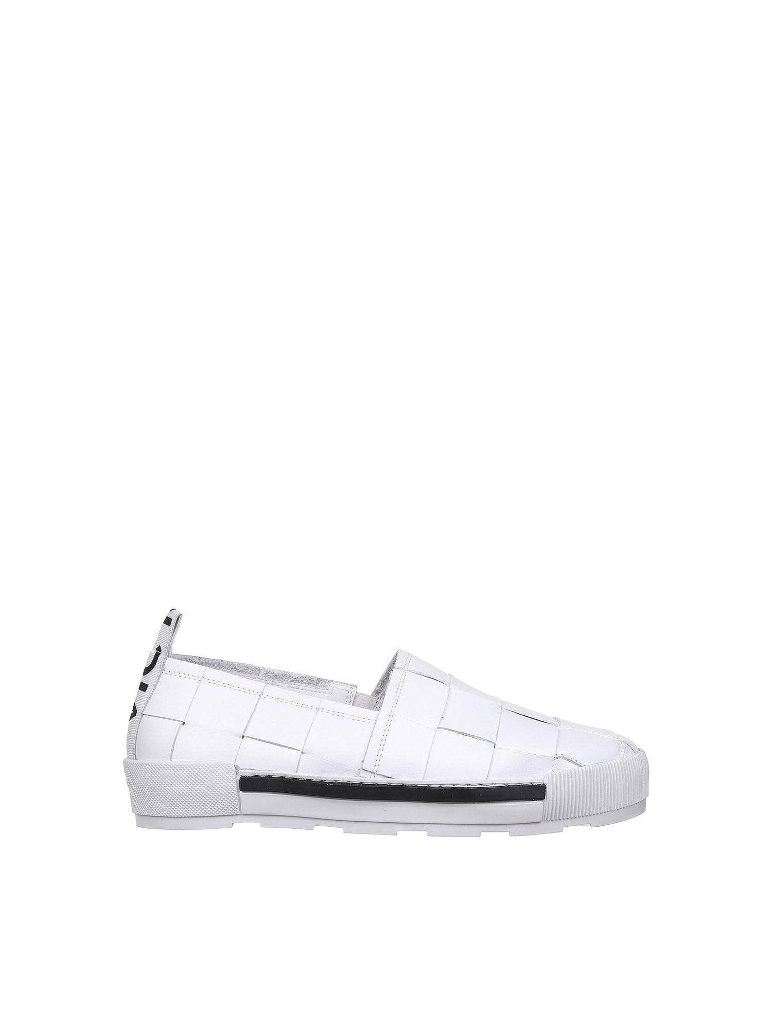 Vic Matie Flats BRAIDED SLIP-ON IN WHITE