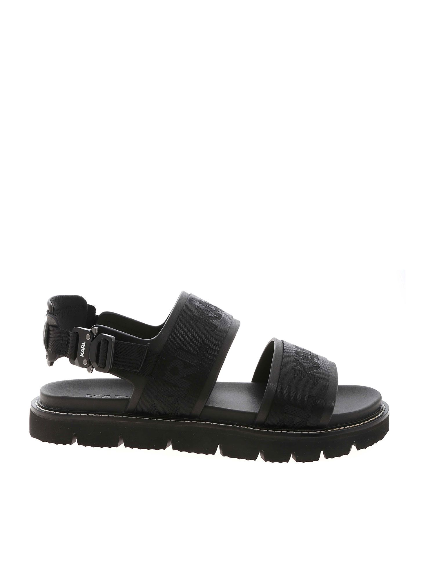 Karl Lagerfeld KASTOR SANDALS IN BLACK
