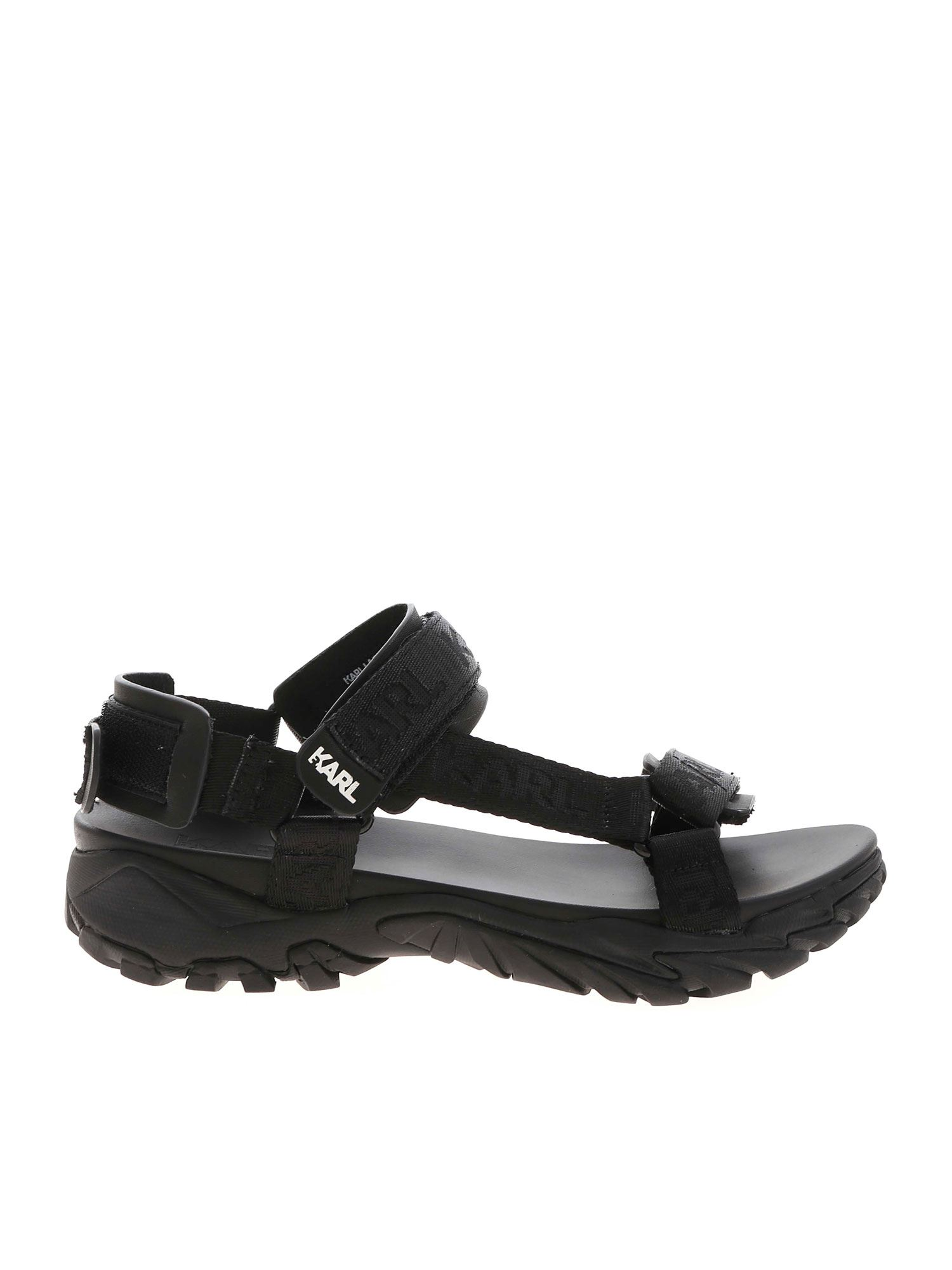Karl Lagerfeld VOLT AKTIV SANDALS IN BLACK