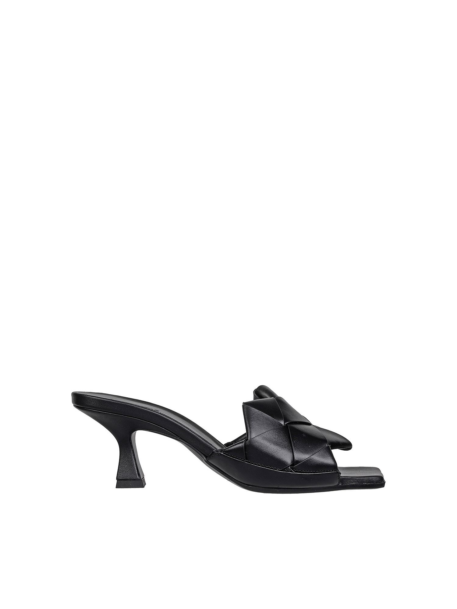 Vic Matie Flats MAXI WOVEN BAND SANDALS IN BLACK
