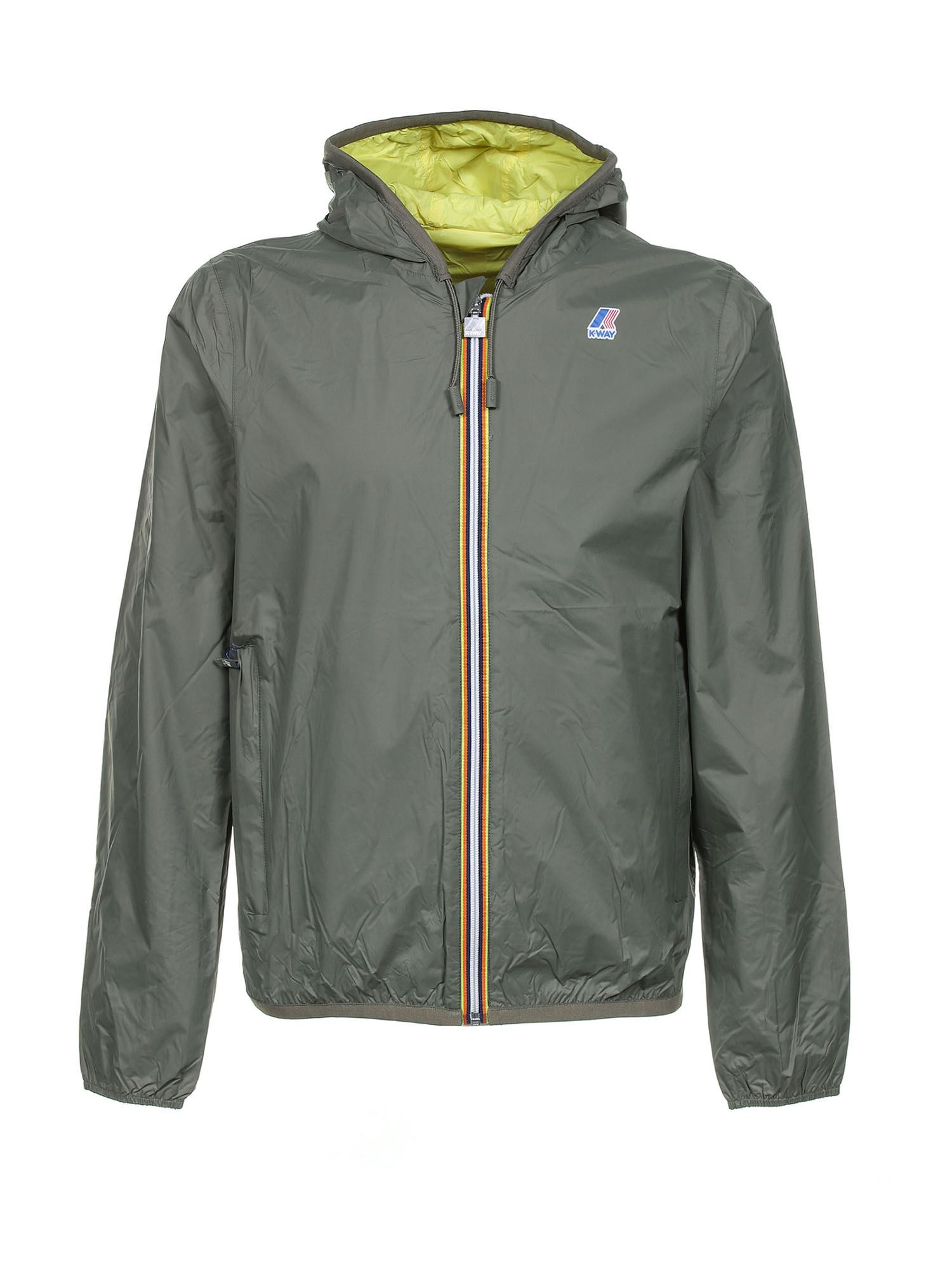 K-Way JACQUES PLUS DOUBLE JACKET IN GREEN
