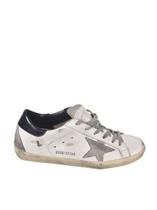 Golden Goose - Superstar sneakers in white and blue
