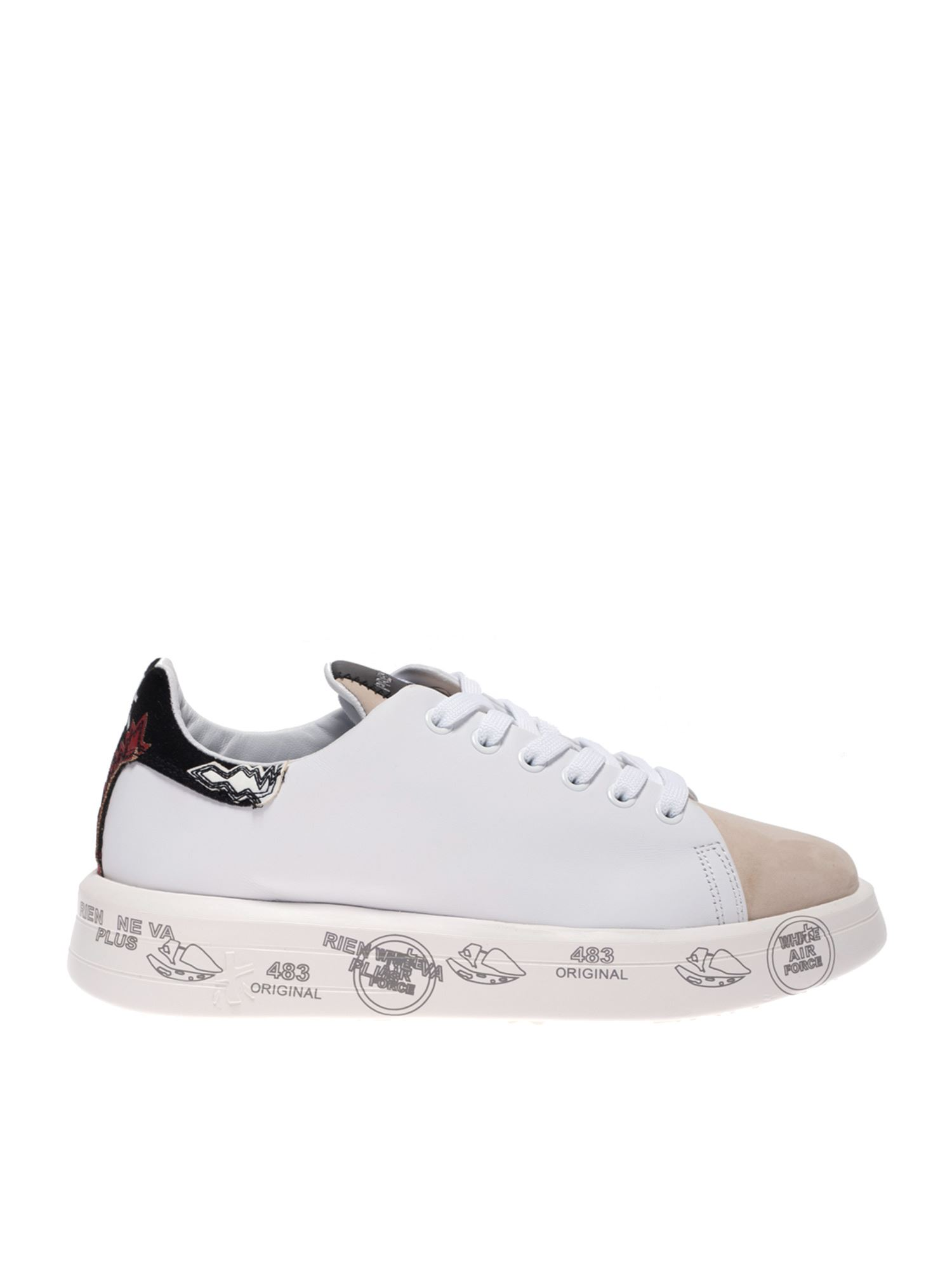 Premiata BELLE SNEAKERS IN WHITE