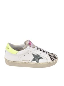 Golden Goose - Hi Star Classic sneakers in white and zebra