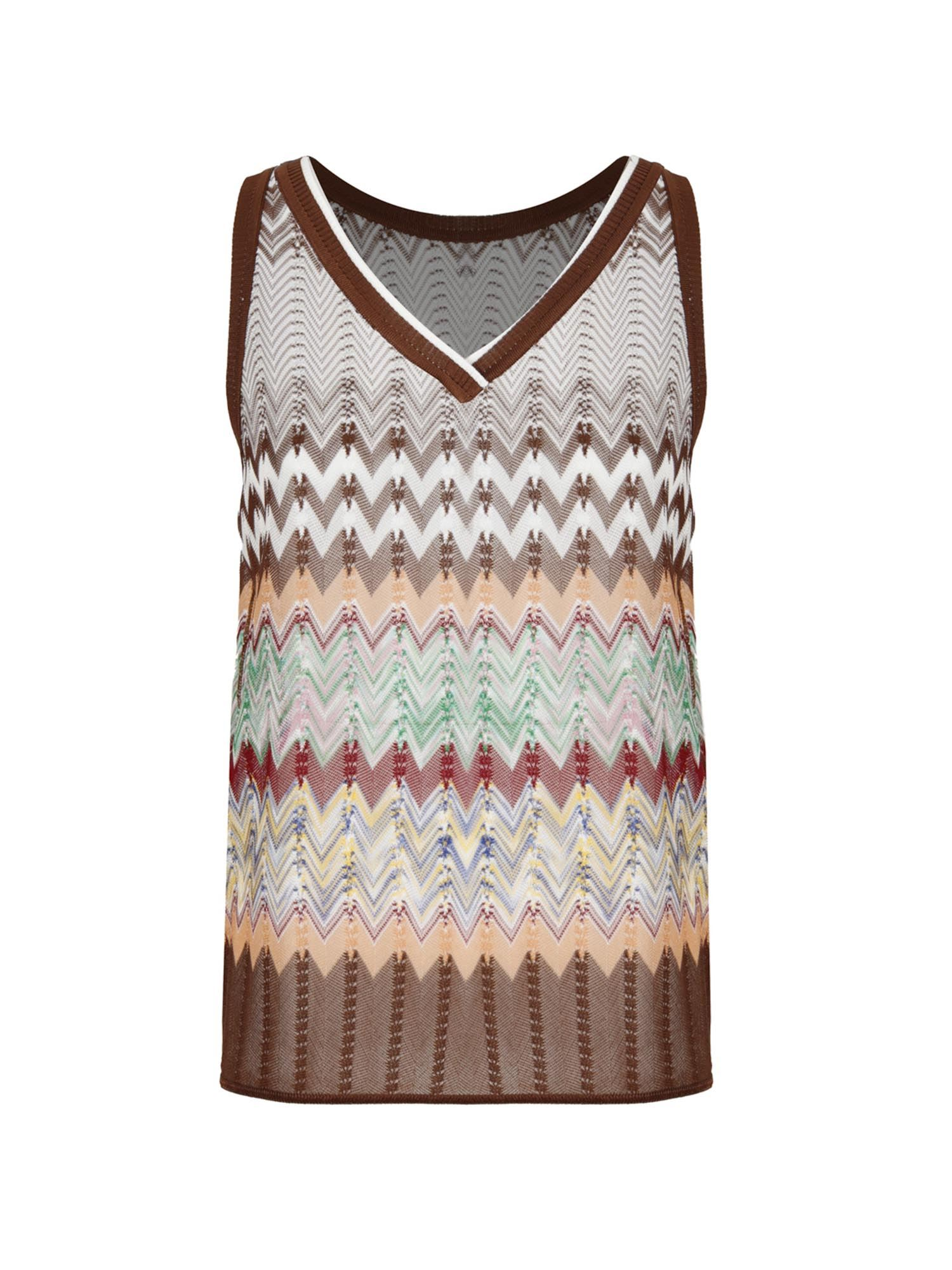 Missoni Tanks MULTICOLOR KNITTED TOP