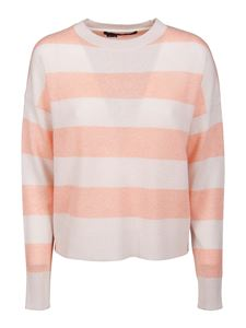 360 Cashmere - Mindie sweater in white and pink
