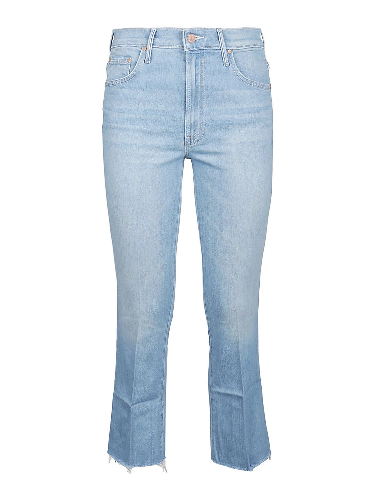 Mother THE INSIDER CROPPED JEANS IN LIGHT BLUE