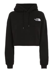 The North Face - Logo embroidery cotton hoodie in black