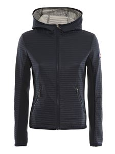 Colmar Originals - Quilted tech fabric hooded jacket in blue