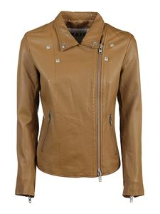 S.W.O.R.D. - Soft nappa jacket in camel color