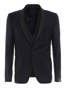 Tagliatore - Wool jacquard suit in blue