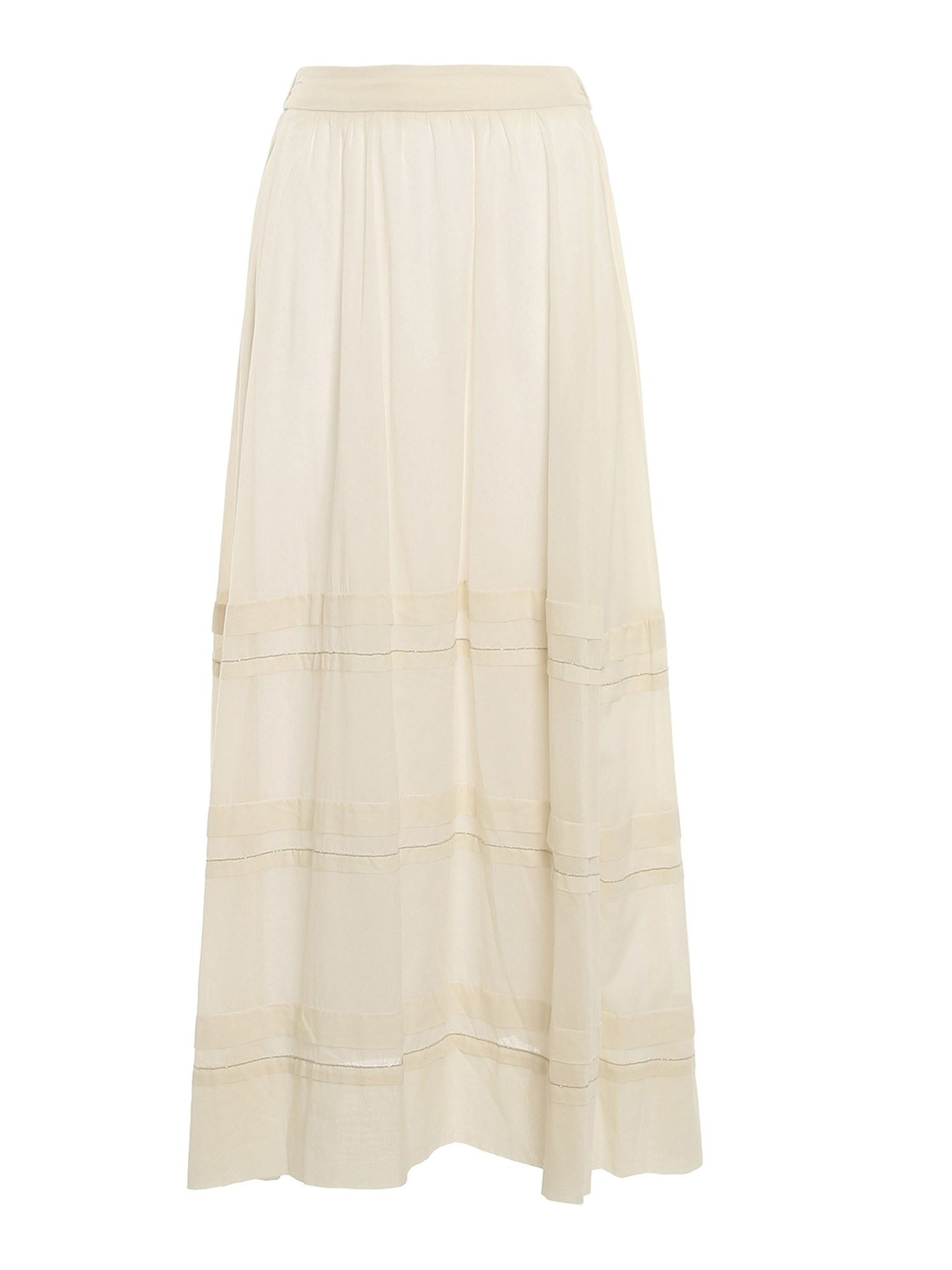 Peserico SKIRT WITH MICRO-BEADS IN CREAM COLOR