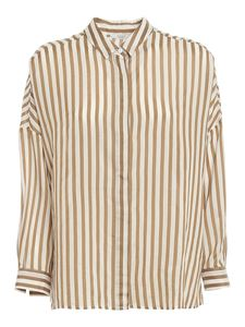 Peserico - Striped shirt in brown