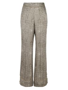Forte Forte - Flared pants in Khaki color