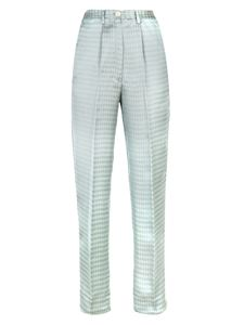 Forte Forte - Houndstooth pants in light blue and white
