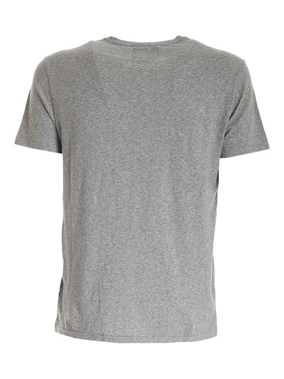 POLO Ralph Lauren - Logo embroidery cotton T-shirt in grey