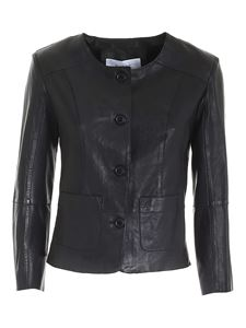 Bully - Unlined leather jacket in black