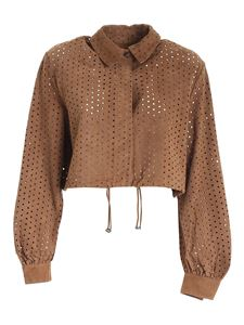 Bully - Drilled jacket in brown