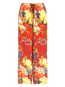 Etro - Floral prined pants in red