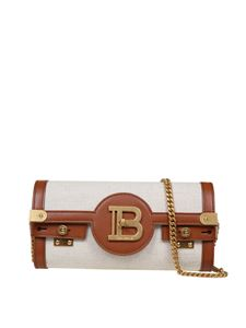 Balmain - B-Buzz 23 bag in ivory and brown