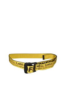 Off-White - Industrial Classic belt in yellow and black