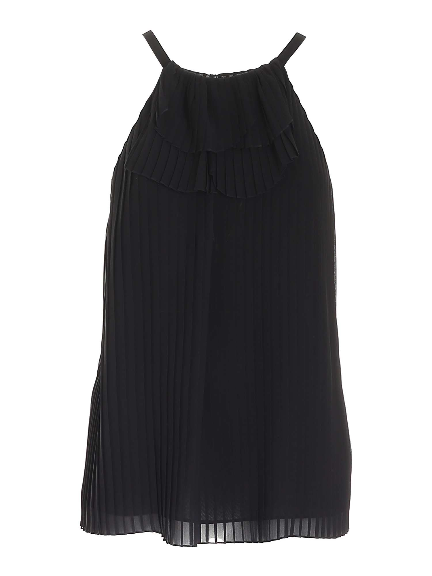 Emporio Armani Linings PLEATED TOP IN BLACK