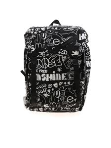 Golden Goose - Printed Journey backpack in black and white
