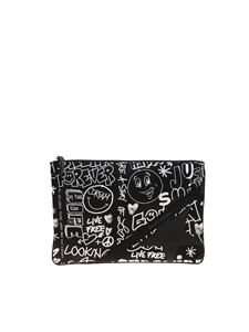 Golden Goose - Pochette Journey Pouch nera
