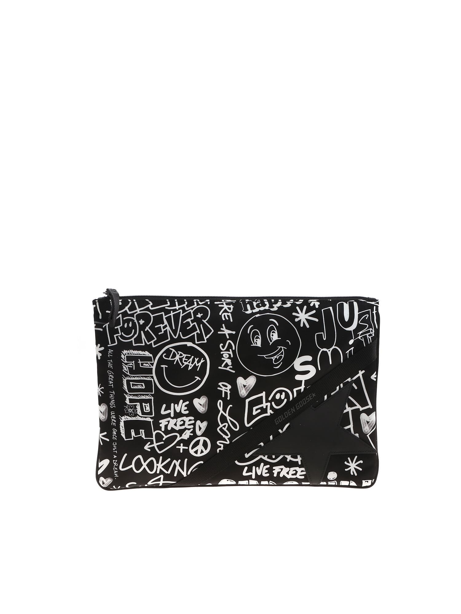 Golden Goose JOURNEY POUCH CLUTCH BAG IN BLACK