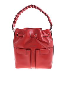 Orciani - Braided handle bag in red