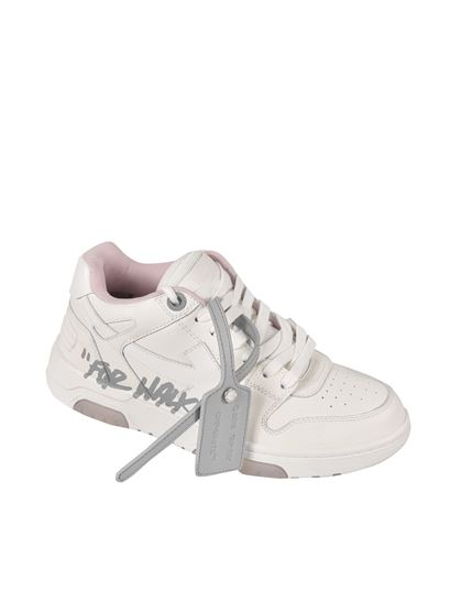 Off-White - Out Of Office sneakers in white and pink