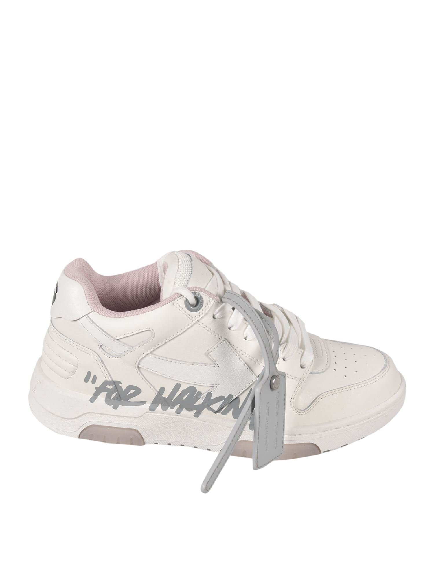 Off-White OUT OF OFFICE SNEAKERS IN WHITE AND PINK