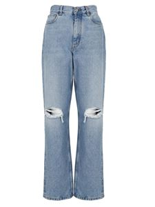 Etro - Destroyed effect jeans in blue