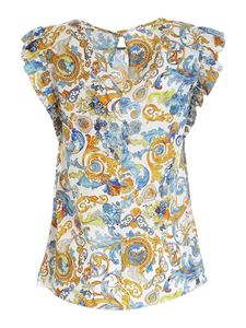 Versace Jeans Couture - Versailles print top in white