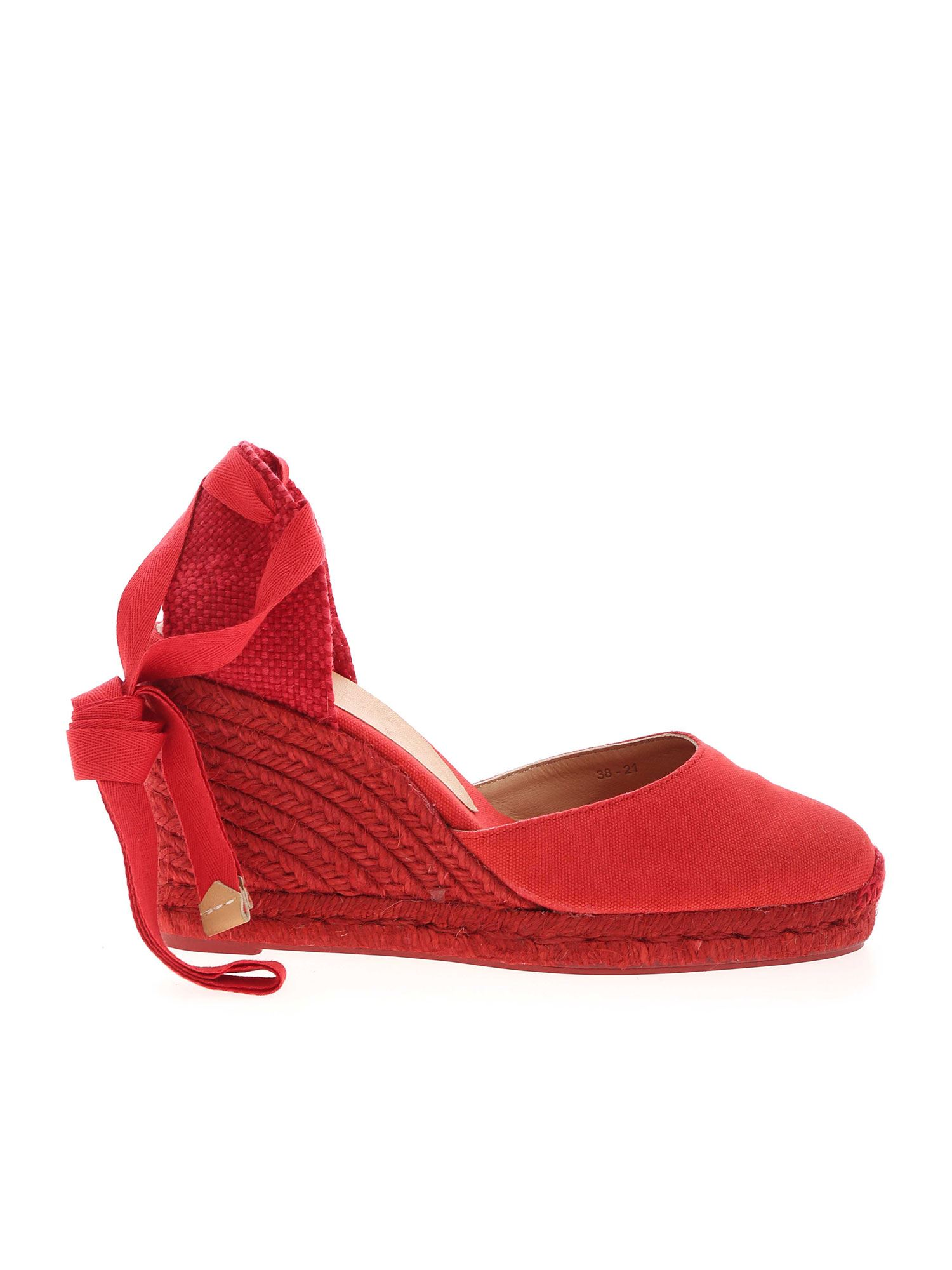 CASTAñER Wedges CARINA WEDGE ESPADRILLES IN RED