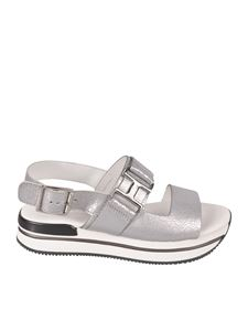 Hogan - H222 sandals in silver color