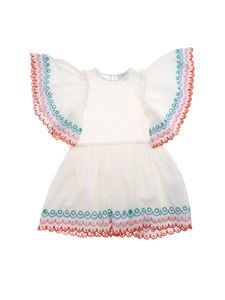 Stella McCartney Kids - Embroidery dress in white