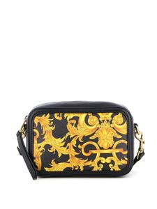 Versace Jeans Couture - Baroque print clutch in black