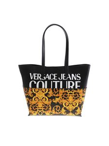 Versace Jeans Couture - Baroque print shopper in black