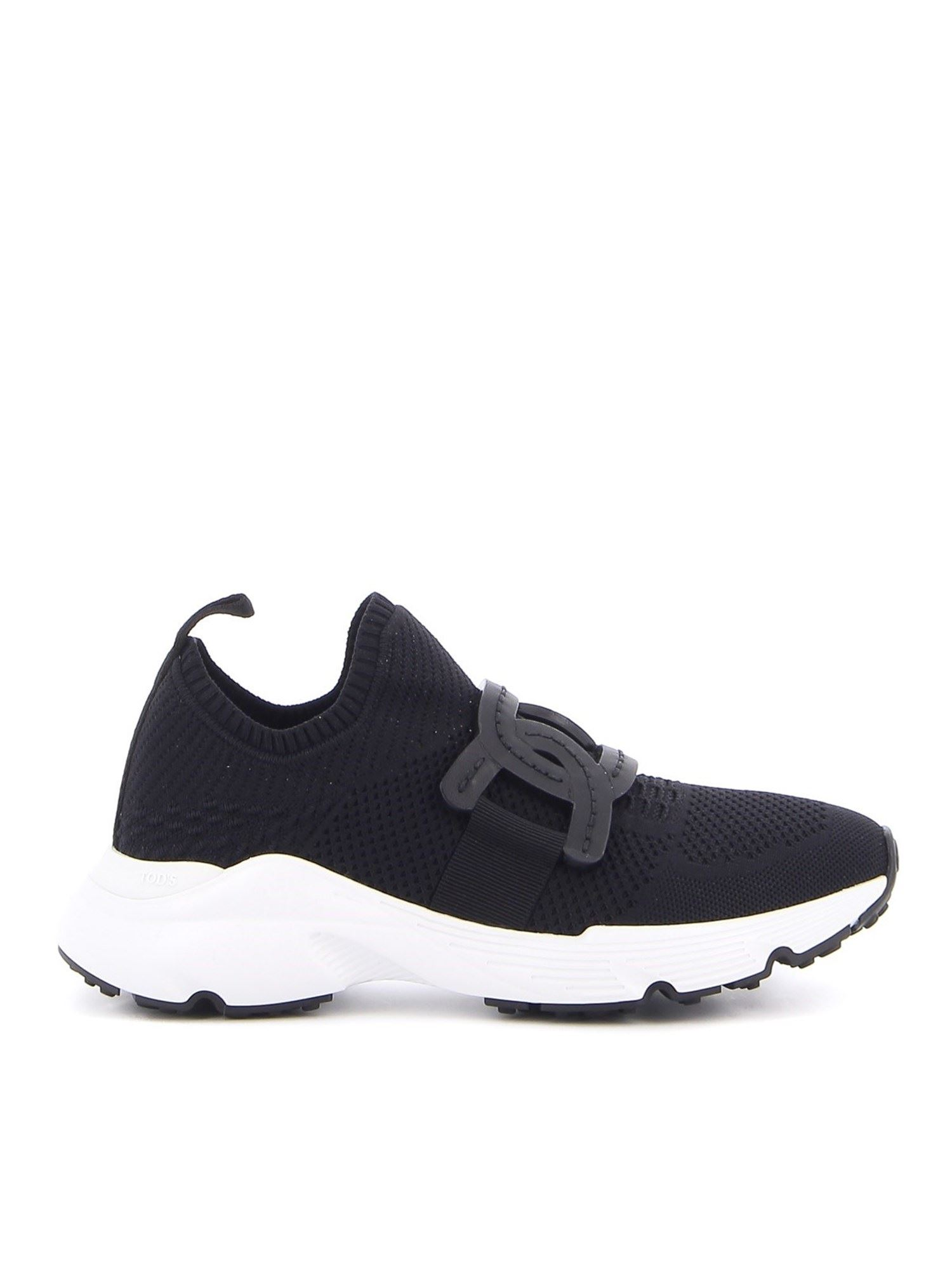 Tod's Leathers TECH FABRIC SLIP ON SNEAKERS IN BLACK