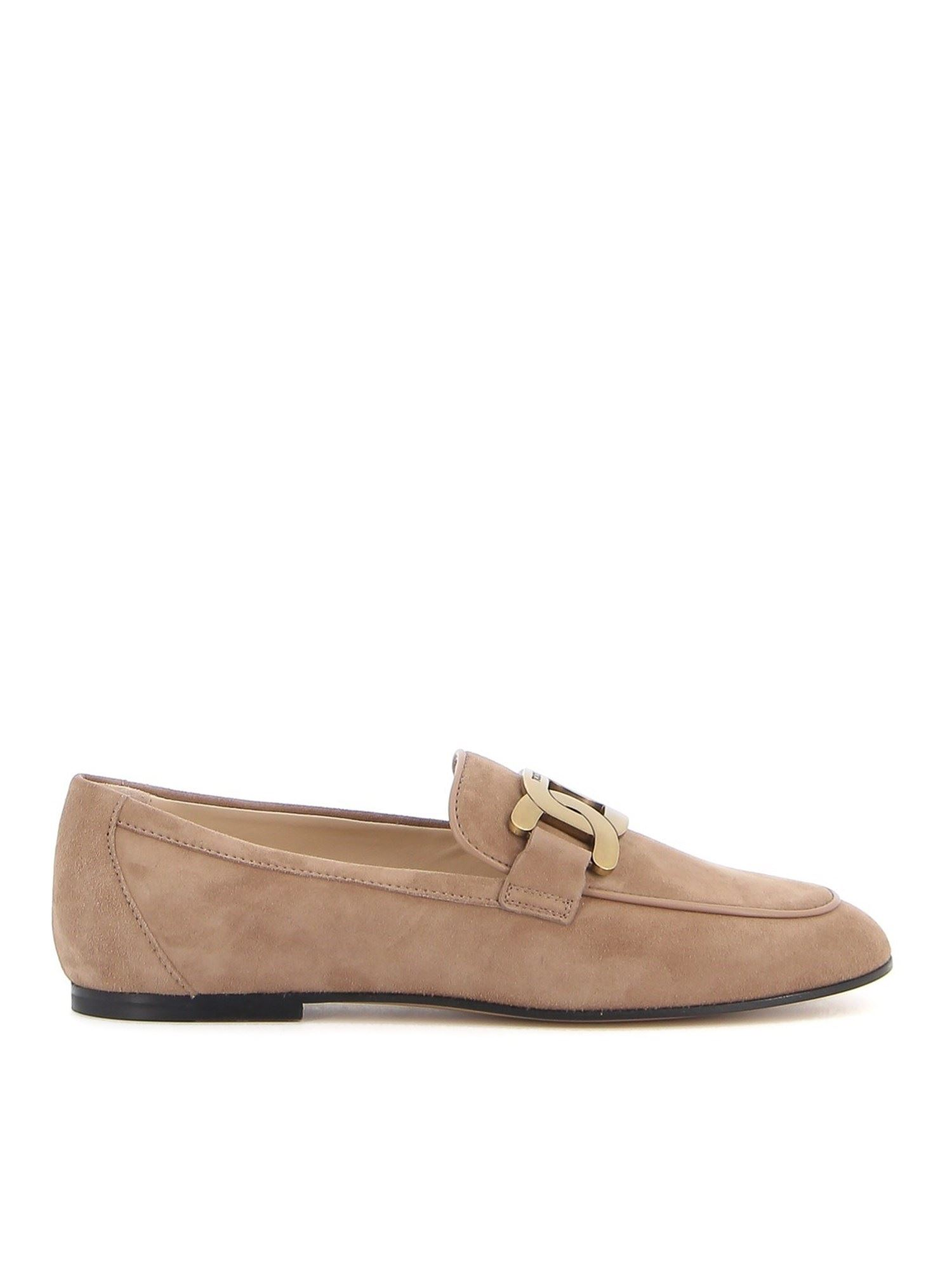 Tod's Suedes KATE SUEDE LOAFERS IN CAPPUCCINO COLOR