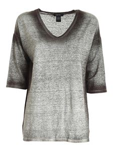 Avant Toi - Half sleeved T-shirt in faded green