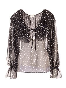 Saint Laurent - Polka dot blouse in black