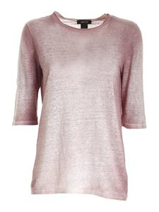 Avant Toi - Half sleeved T-shirt in faded pink