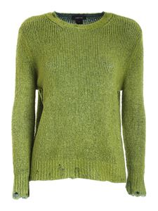 Avant Toi - Destroyed effect sweater in green