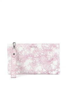 Orciani - Caleido printed calfskin clutch in pink