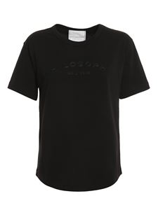 Philosophy di Lorenzo Serafini - Embroidered logo t-shirt in black